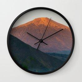 Mt. Rinjani at Sunrise Wall Clock