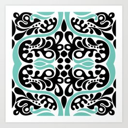 C13D Swirl Pattern Art Print
