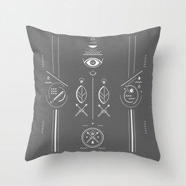 Mystical signs  Throw Pillow