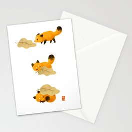 Fox and leaf blanket Stationery Cards