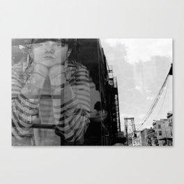 Williamsburg Bridge Analog Canvas Print