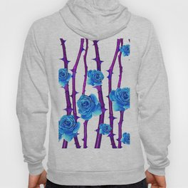 BABY BLUE ROSES &  PURPLE THORN CANES Hoody
