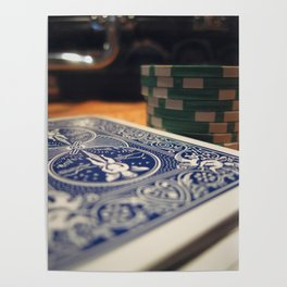 Poker Cards and Chips on the Table, All In Poster