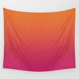 Pink Orange Red Gradient Pattern Wall Tapestry