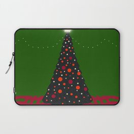 Christmas Tree with Glowing Star Laptop Sleeve