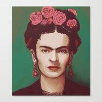 frida Canvas Prints featuring Frida by ravynka