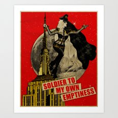 Soldier To My Own Emptiness Art Print
