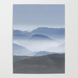 Blue Mountains in Dust - Photoadaption Poster