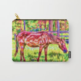 Horse in a paddock Carry-All Pouch