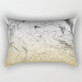 Amalfi golden ombre marble Rectangular Pillow