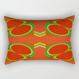 Red eight Rectangular Pillow