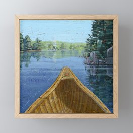 canoe bow Framed Mini Art Print