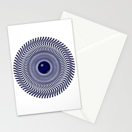 Illusion blue Stationery Cards
