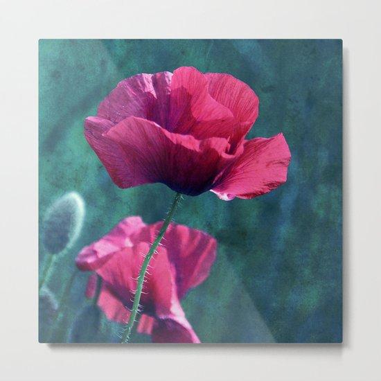pink poppyfield Metal Print