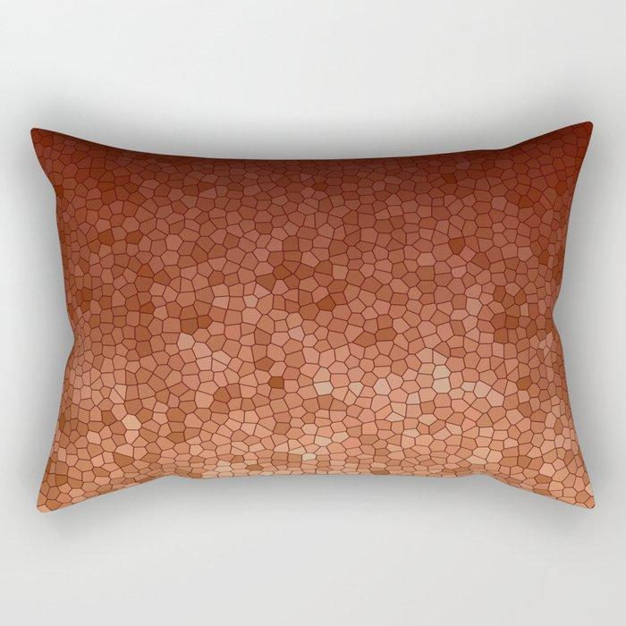 Copper Admiration - Copper Orange Warm Mosaic Rectangular Pillow