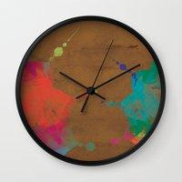 batik Wall Clocks featuring Batik by Just Custom It