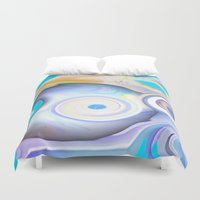 calendars Duvet Covers featuring Time by Geni