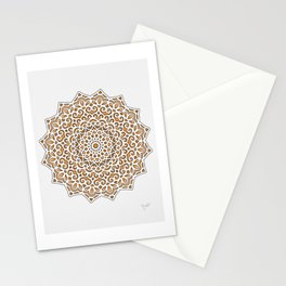 16 Fold Mandala in Orange Stationery Cards