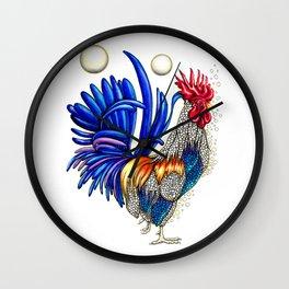Gallo de las dos lunas Wall Clock