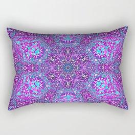 Pink, Purple, and Blue Mandala Rectangular Pillow