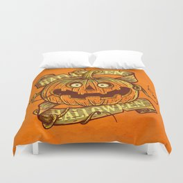 Halloween orange Duvet Cover