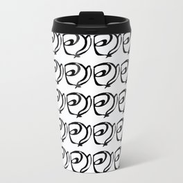 Rows of Flowers, Bright Travel Mug