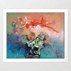 She Is Exploding Off My Mind Art Print