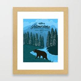Yellowstone Bear Poster Framed Art Print