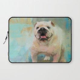 White English Bulldog Laptop Sleeve