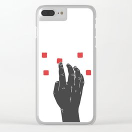 A Touch of Creativity Red Clear iPhone Case