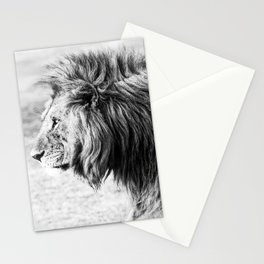 Black and White Lion Stationery Cards