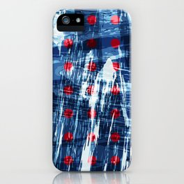 dots on blue ice iPhone Case
