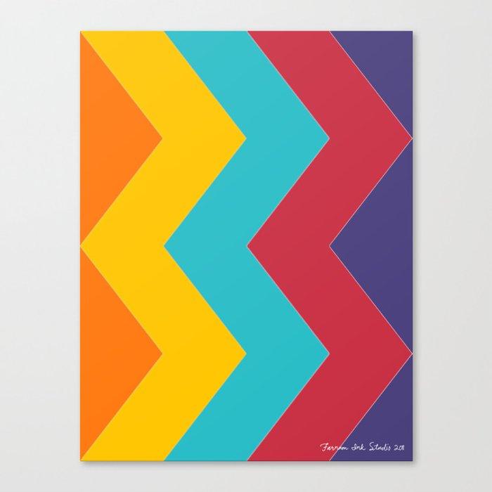 Chevron Chic  Canvas Print