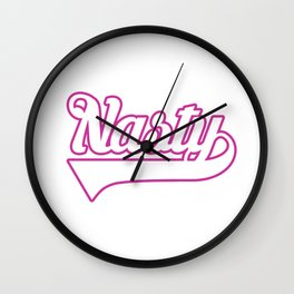 Team Nasty Woman (hot pink/white) Wall Clock