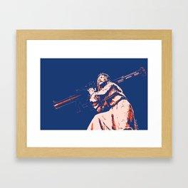 Rocket Propelled Christ - Who WOuld Jesus Blow Up Framed Art Print