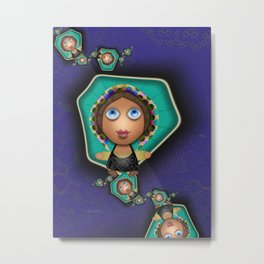 Souther Little Peasant Girls Metal Print