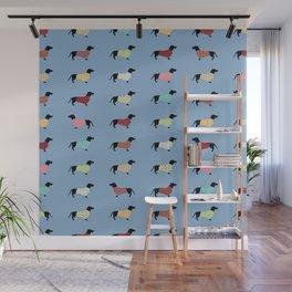 Dachshund - Blue Sweaters #708 Wall Mural