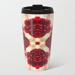 Old Red Rose Kaleidoscope 2 Travel Mug