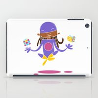 super hero iPad Cases featuring Super Hero 3 by La Lanterne