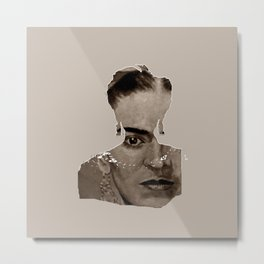 FRIDA - SHIRT version - sepia Metal Print