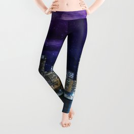 Spacey Chicago Skyline Leggings