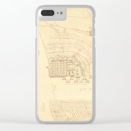 Vintage Map of Charleston SC (1780) Clear iPhone Case
