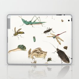 Insects, frogs and a snail Laptop & iPad Skin