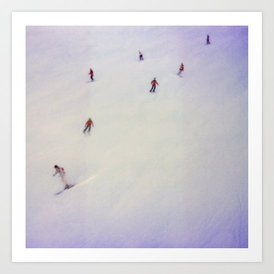 little skiers Art Print