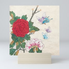 Minhwa: Peony and Butterflies (Korean traditional/folk art) Mini Art Print