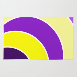 Purple & Gold Circles Rug