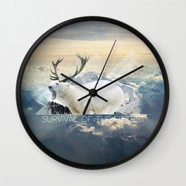 Deer Polar Bear Monster Wall Clock