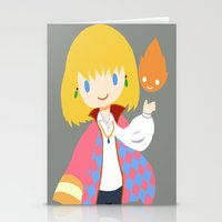 calcifer Stationery Cards featuring Howl and Calcifer by Mayying