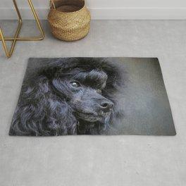 Snack Spotter - Black Toy Poodle Rug