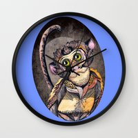 dreamer Wall Clocks featuring Dreamer by SilviaGancheva